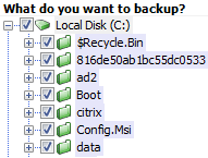 backupAssist File Select